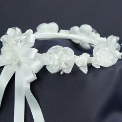 Couronne de fleurs avec perles C1
