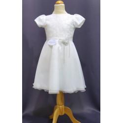 Robe blanche cérémonie fille REF POJ 0005SM