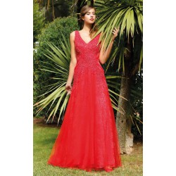 Robe cocktail longue chic Creatif Paris RP028
