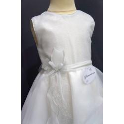 Robe blanche cérémonie fille REF POJ 0004SM