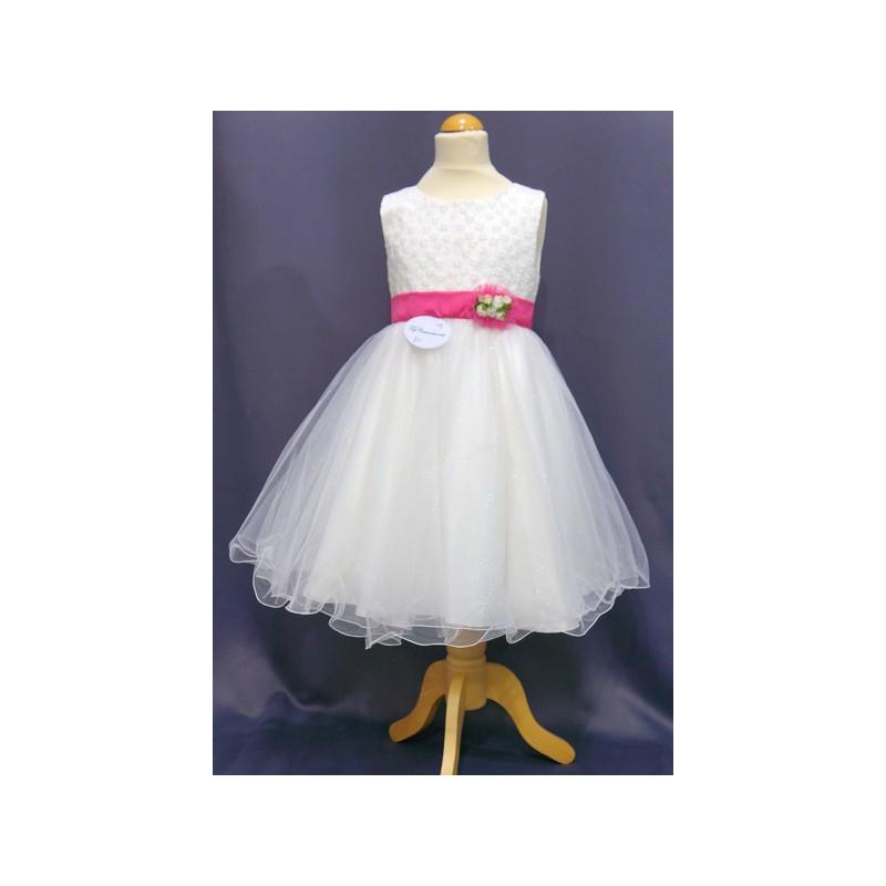 design de qualité fc0ac b1d34 Robe de ceremonie fille blanche et fushia – Robes de soirée ...