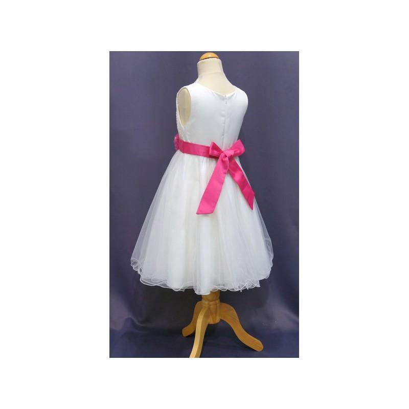 Robe de ceremonie fille fuchsia