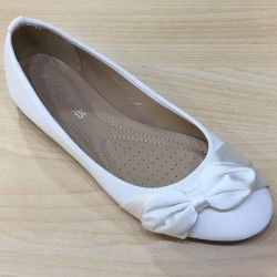 Ballerines ceremonie fille satin ivoire