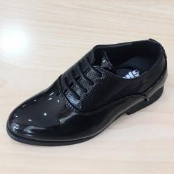 Chaussures ceremonie garçon noir verni du 19 au 24