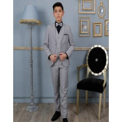"""Costume garçon 3 pièces """"Les Petits Mecs"""" FRANCOIS gris"""