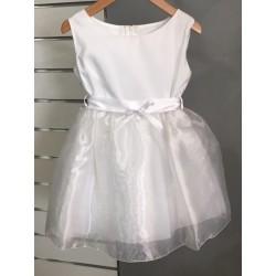 Robe blanche cérémonie fille