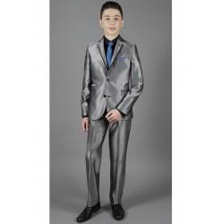 """Costume garçon 2 pièces """"Les petits Mecs"""" NATHAN gris"""