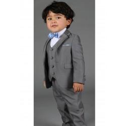 """Costume cérémonie bébé garçon 3 pièces """"Les petits mecs"""" DIVA gris"""