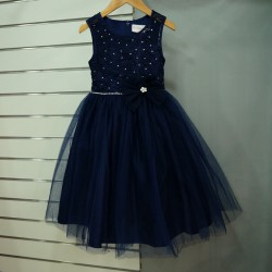 Robe cortège fille bleu marine  CRO-214