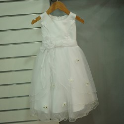 Robe fille princesse tulle blanc