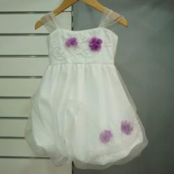 Robe mariage fille blanc lilas
