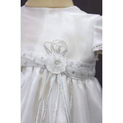 Robe baptême blanche bébé fille PO 1026MC