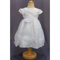Robe cérémonie baptême blanche bébé fille PO 2032PU