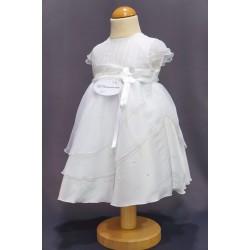 Robe cérémonie baptême blanche bébé fille PO 2033PU