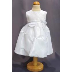 Robe cérémonie baptême blanche bébé fille PO 2030PU