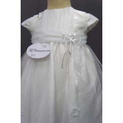 Robe baptême blanche bébé fille PO 1029MC