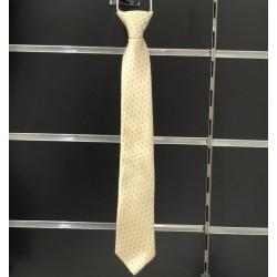 Cravate garçon satin motifs ivoire