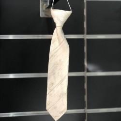 Cravate garçon motifs ivoire champagne