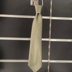 Cravate garçon motifs vert