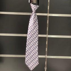 Cravate garçon fantaisie gris rouge