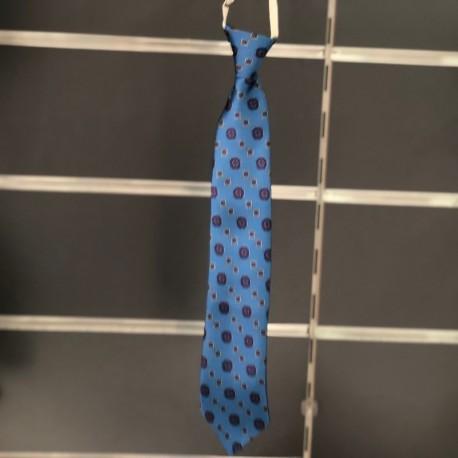 Cravate garçon fantaisie bleu