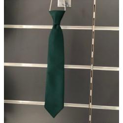 Cravate garçon satin vert