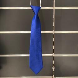 Cravate garçon marbré bleu