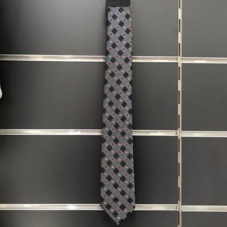 Cravate garçon grise à nouer comme papa
