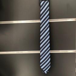 Cravate garçon marine rayé à nouer comme papa