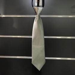 Cravate garçon satin gris foncé