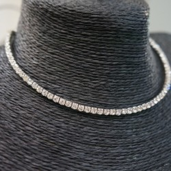 Collier rigide strass