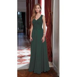 Robe cocktail longue mousseline Ellebeline RL8211