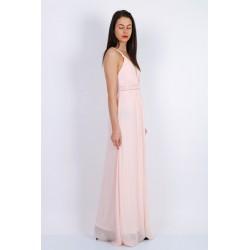 Robe cortège femme rose poudré