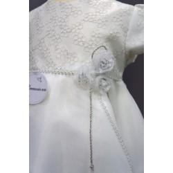 Robe baptême blanche bébé fille PO 1020MC