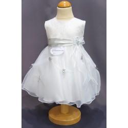 Robe baptême blanche bébé fille PO 0002SM