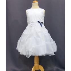 Robe blanche princesse fille REF POJ 0001SM