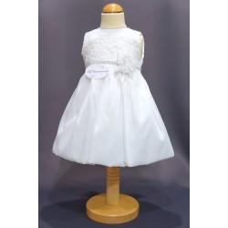 Robe baptême blanche bébé fille PO 0004SM