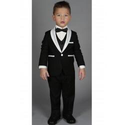 """Costume cérémonie bébé garçon 3 pièces """"Les petits mecs""""  JEAN noir"""