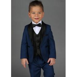 "Costume smoking cérémonie bébé garçon 2 pièces ""Les petits mecs"" JEAN bleu roi"