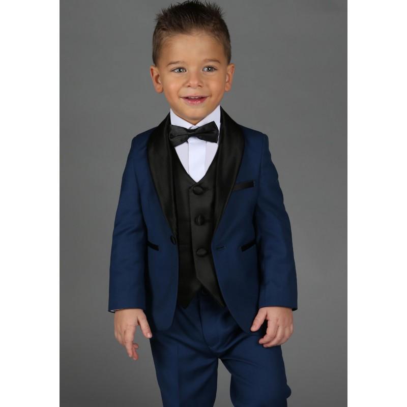 costume c r monie b b gar on les petits mecs r f jean bleu roi. Black Bedroom Furniture Sets. Home Design Ideas