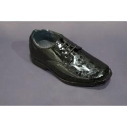Chaussures cérémonie garçon noir du 19 au 24