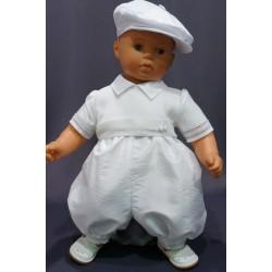 Barboteuse cérémonie baptême blanche bébé garçon JADEN 2