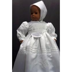 Robe longue de baptême traditionnelle blanche bébé SHEILA