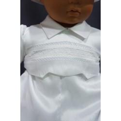 Barboteuse baptême blanche VALENTIN