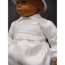 Barboteuse baptême blanche MATHIS