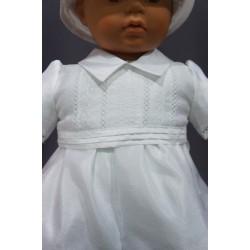 Barboteuse cérémonie baptême blanche bébé garçon CLEMENT