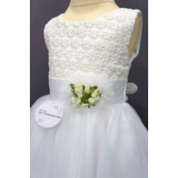 Robe de baptême blanche bébé fille CH 0003SM