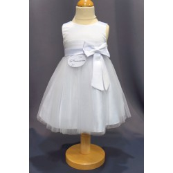 Robe baptême blanche bébé fille CH 0004SM
