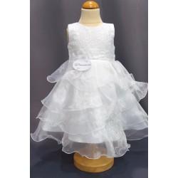 Robe baptême blanche bébé fille CH 0005SM