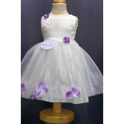 Robe tulle blanche fille  CH 0006SM